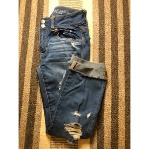 American Eagle Mid Wish Ripped Jeans